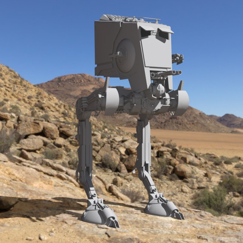 AT-ST In a Desert