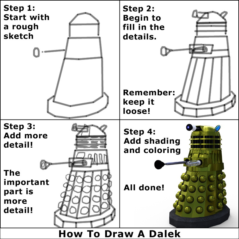 How to Draw a Dalek