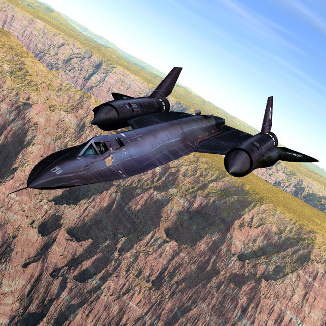 SR-71 Over the Canyon
