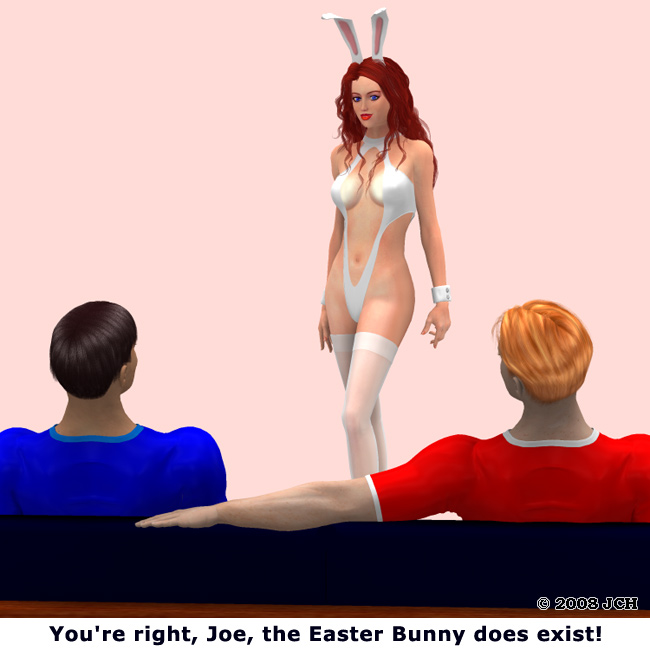 Easter Bunny Does Exist (humor)